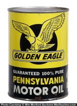 Golden Eagle Motor Oil Can