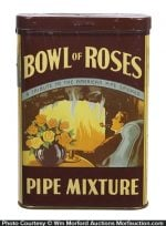 Bowl of Roses Pipe Tobacco Tin
