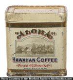 Aloha Hawaiian Coffee Sample Tin