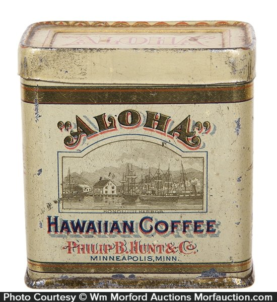 Aloha Hawaiian Coffee Sample Tin