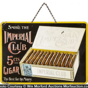 Imperial Club Cigar Sign