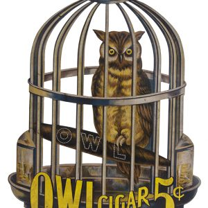 Large Tin Owl Cigar Sign