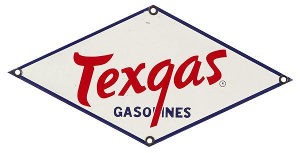 Texgas Gasoline Pump Plate Sign