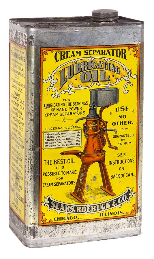 Sears Cream Separator Lubricating Oil Can