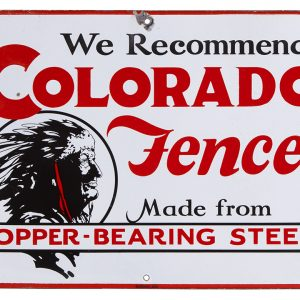 Colorado Fence Porcelain Sign