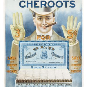 Old Virginia Cheroots Cigar Sign