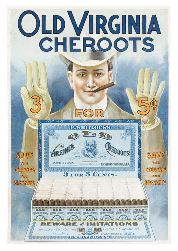 Old Virginia Cheroots Cigar Sign