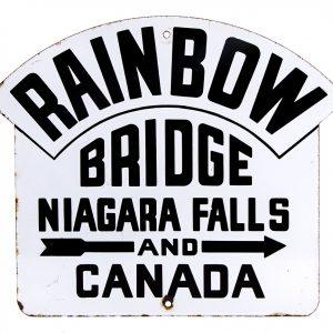 Niagara Falls Rainbow Bridge Porcelain Sign