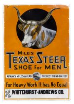 Texas Steer Shoes Sign