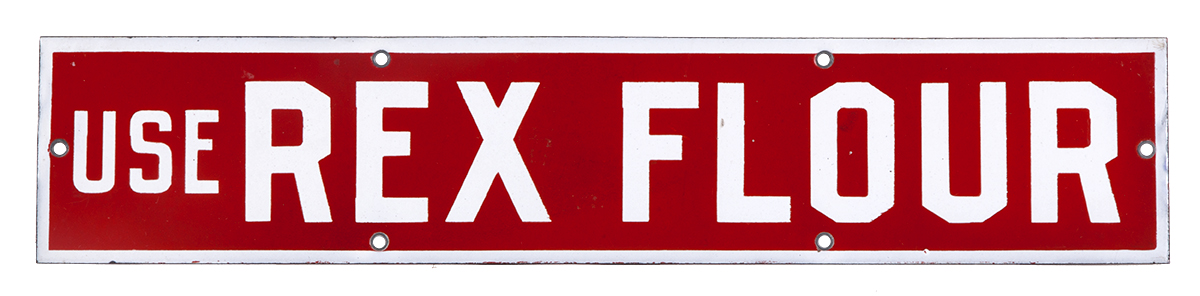 Rex Flour Porcelain Sign