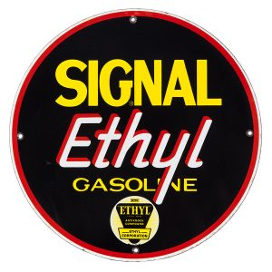 Signal Ethyl Gasoline Porcelain Sign
