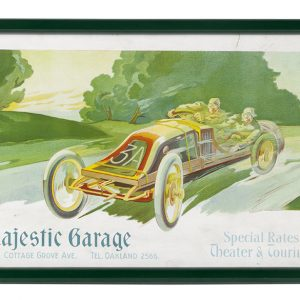 Majestic Garage Auto Racing Sign