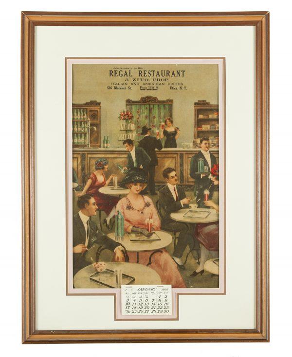 Utica Regal Restaurant Calendar