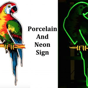 Poll Parrot Porcelain Neon Sign