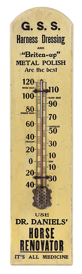 Dr. Daniels'Horse Renovator Thermometer