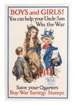 WW I War Savings Stamps Poster