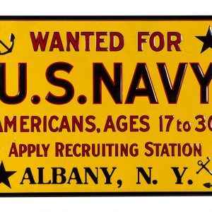 U.S. Navy Recruiting Station Sign