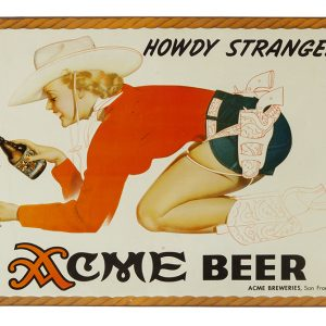 Acme Beer Cowgirl Sign (Petty Girl)