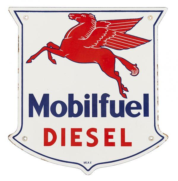 Mobilfuel Diesel Porcelain Sign