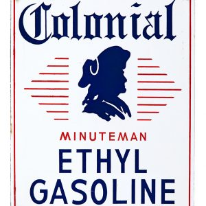 Colonial Minuteman Gasoline Sign