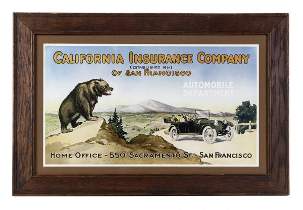 California Insurance Company Sign