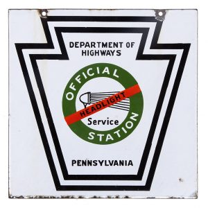 Headlight Service Porcelain Sign