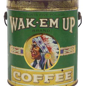 Wak-Em-Up Coffee Tin Pail