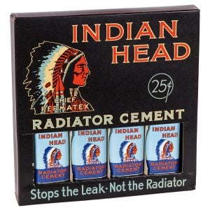 Indian Head Radiator Cement Display