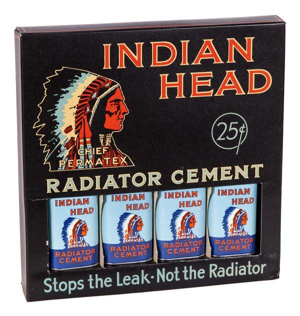 Indian Head Radiator Cement Display