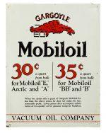 Gargoyle Mobiloil Motor Oils Sign