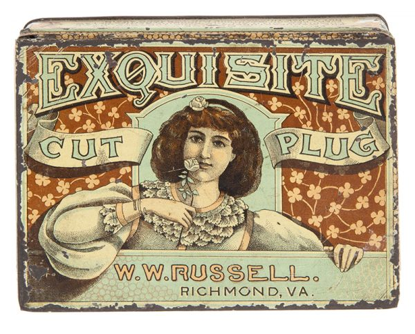 Exquisite Cut Plug Tobacco Tin