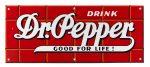 Dr. Pepper Porcelain Sign