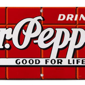 Dr. Pepper Porcelain Sign