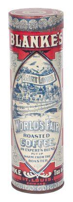 Blanke's World's Fair Coffee Tin