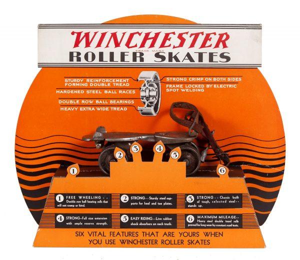 Winchester Roller Skates Display