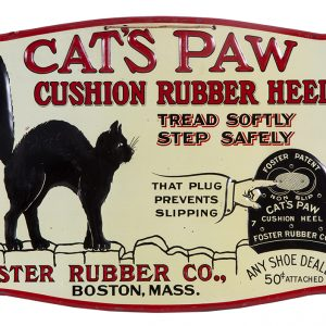 Cat's Paw Rubber Heels Sign