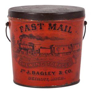 Fast Mail Tobacco Tin Pail