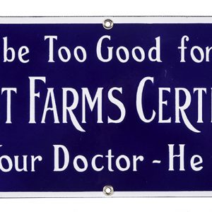 Alta Crest Farms Milk Porcelain Sign