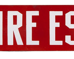Fire Escape Porcelain Sign