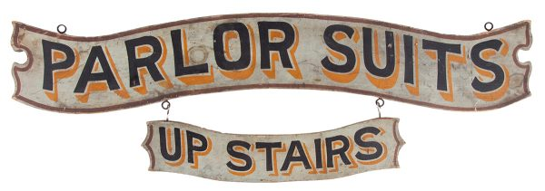 Parlor Suits Wooden Trade Sign
