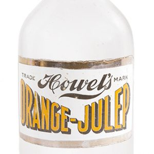 Howel's Orange-Julep Syrup Bottle