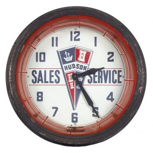 Hudson Autos Sales Neon Light-up Clock
