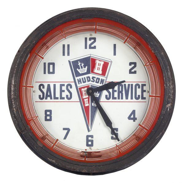 Hudson Autos Sales Neon Light-up Clock