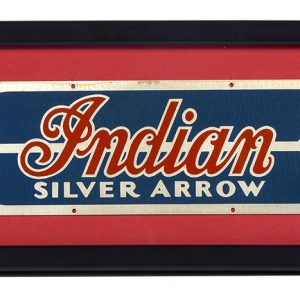 Indian Silver Arrow Outboard Motor Sign