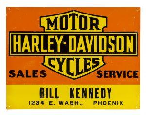 Harley-Davidson Motor Cycles Sign