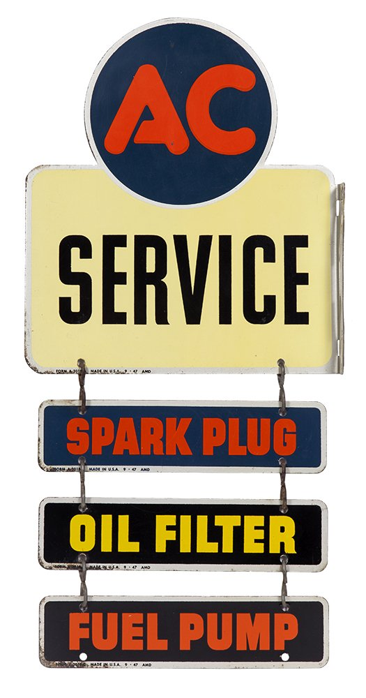 AC Service Station Sign