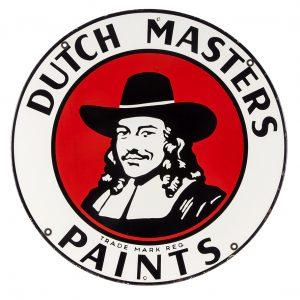 Dutch Master Paints Porcelain Sign