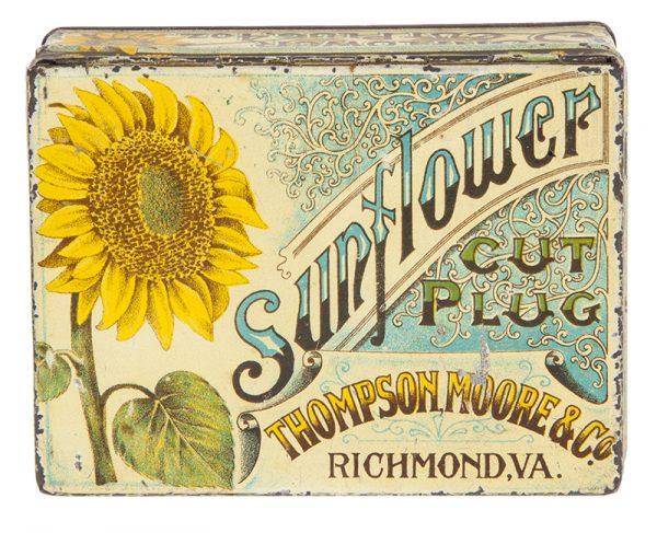 Sunflower Tobacco Tin