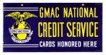 GMAC Credit Service Porcelain Sign