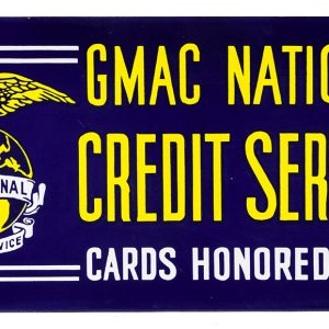 GMAC Credit Service Porcelain Sign